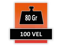 80 grams 100 Vel (Gelijmd aan de kop)