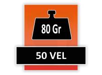 80 grams 50 Vel (Gelijmd aan de kop)
