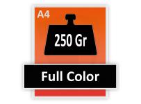 Formaat A4 - 250 grams - Full Color