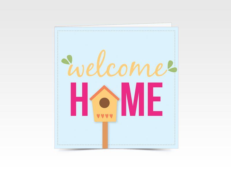 Welkomthuiskaart